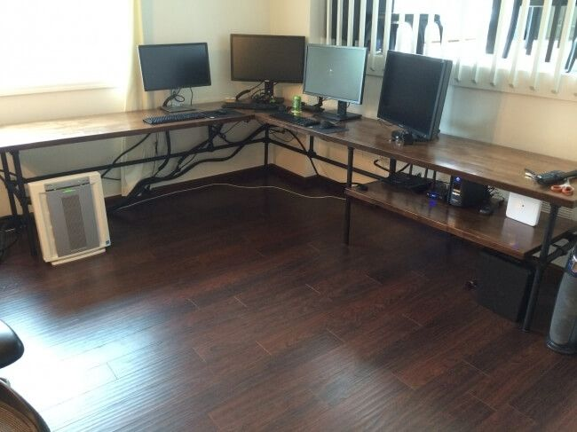 Massive L-Shaped Desk