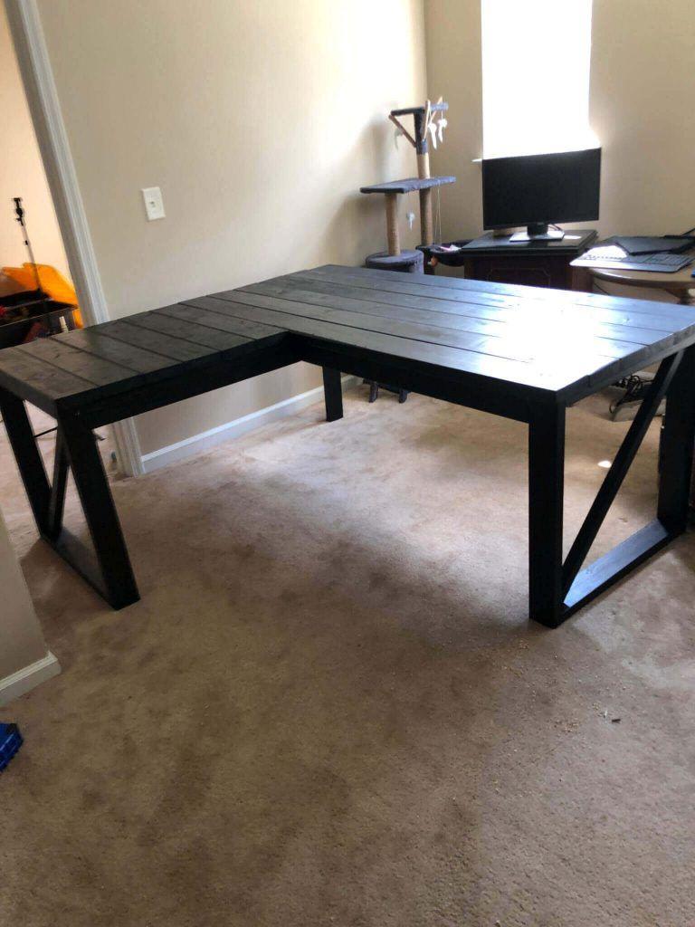 Modern DIY L-Shaped Desk