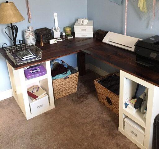 Office Makeover L-Shaped Desk