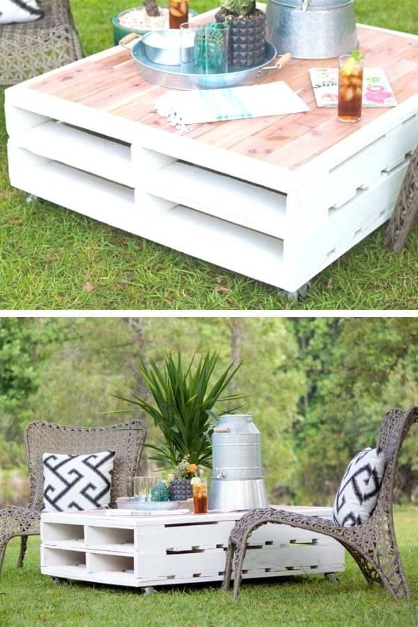 Outdoor Pallet Coffe Table