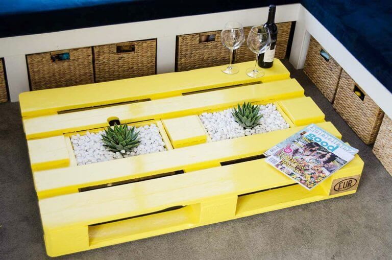 Planter Boxes Pallet Coffee Table