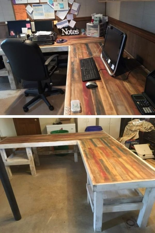 Rustic L-Shaped Desk