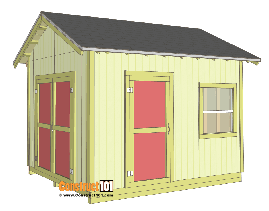 Shed Plans 10x12 Gable Shed