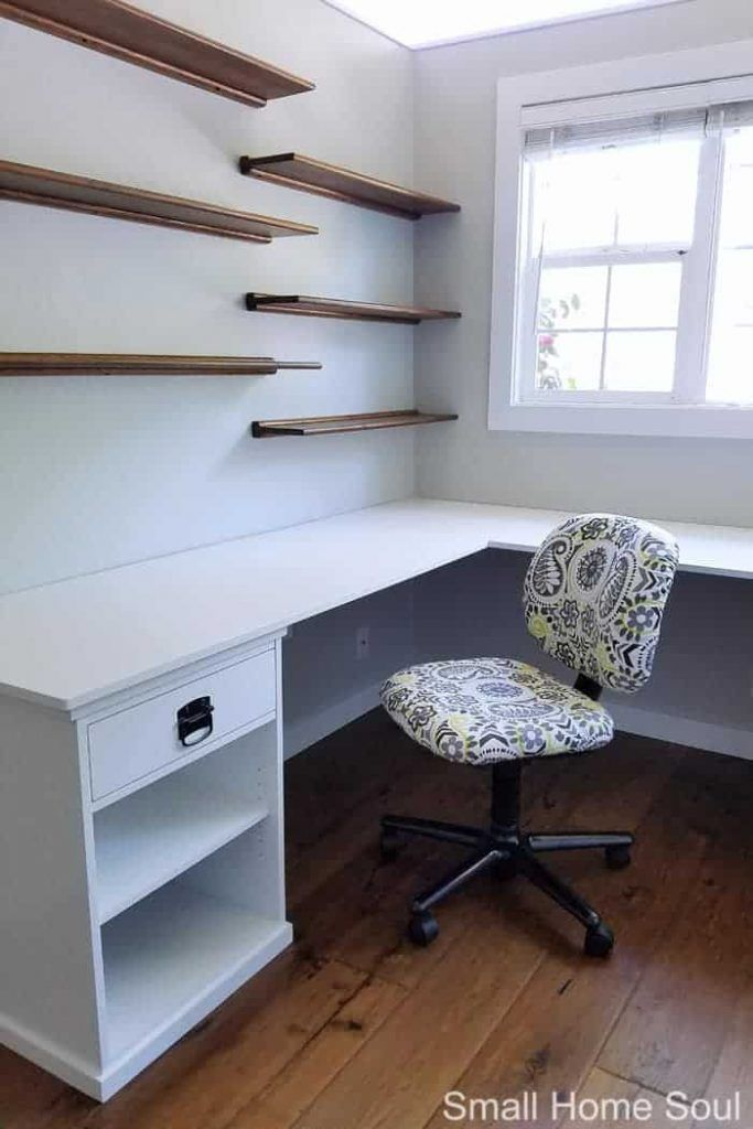 Simple And Easy L-Shaped Desk