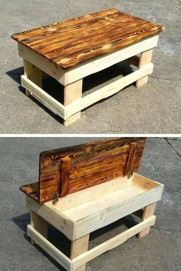 Under-top Storage Pallet Coffee Table