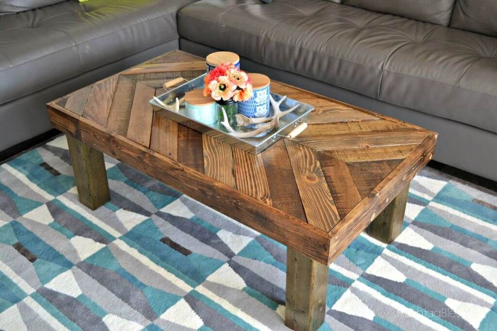 Vintage Chevron Pallet Coffee Table