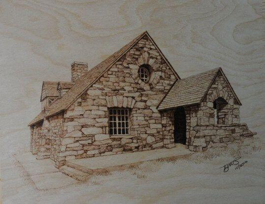 Vista House Pyrography