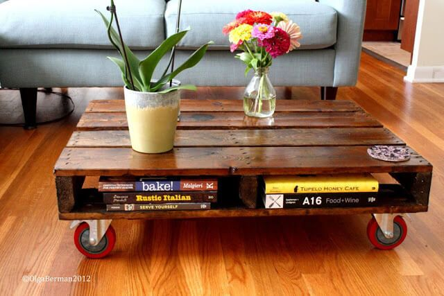 Movable Brow Pallet Coffee Table