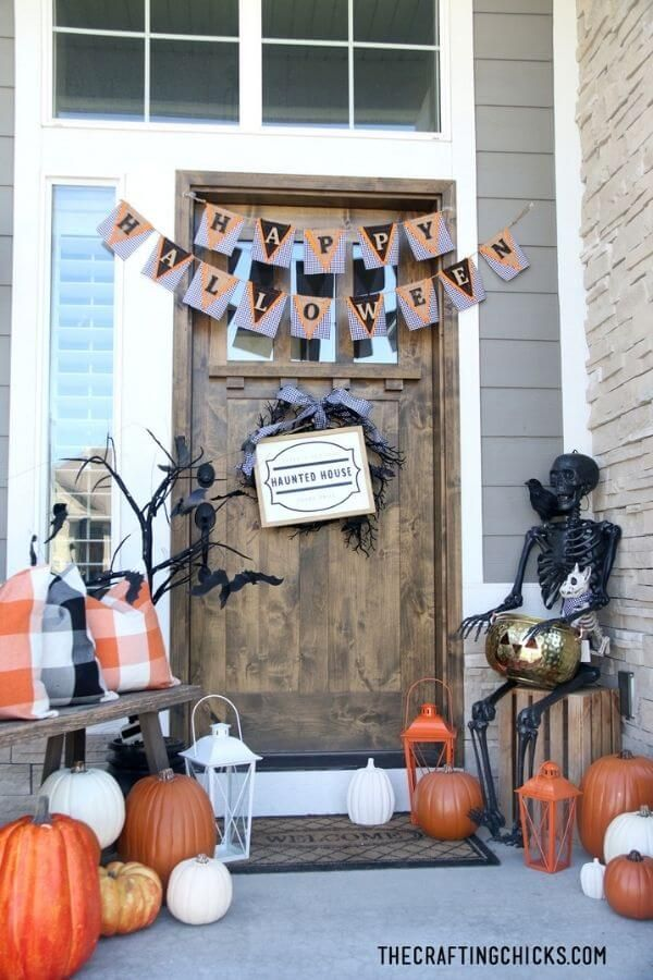 Cute and Cute and Spooky Halloween Porch