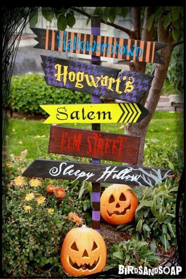 DIY Halloween Yard Sign
