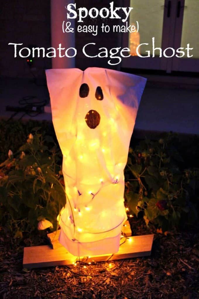 Easy Tomato Cage Ghost
