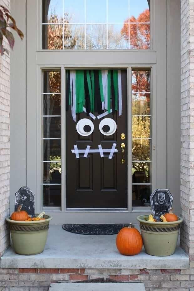 Front Door Halloween Monster