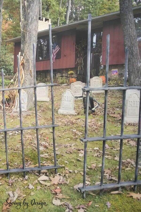 Halloween Graveyard and Fence