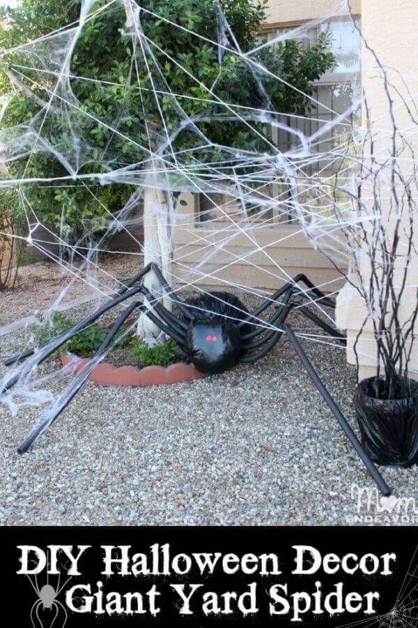 Halloween Yard Decor - Giant Spider In Spiderweb