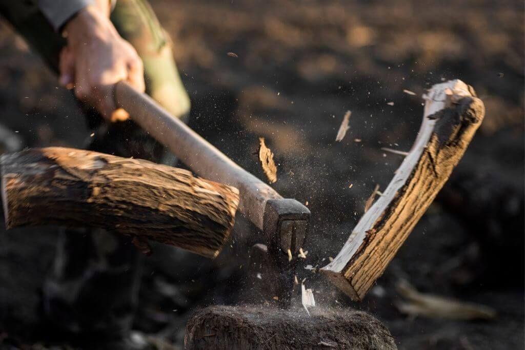 wood splitting maul