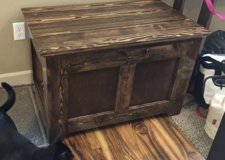 Blanket Chest Style Hidden Litter Box