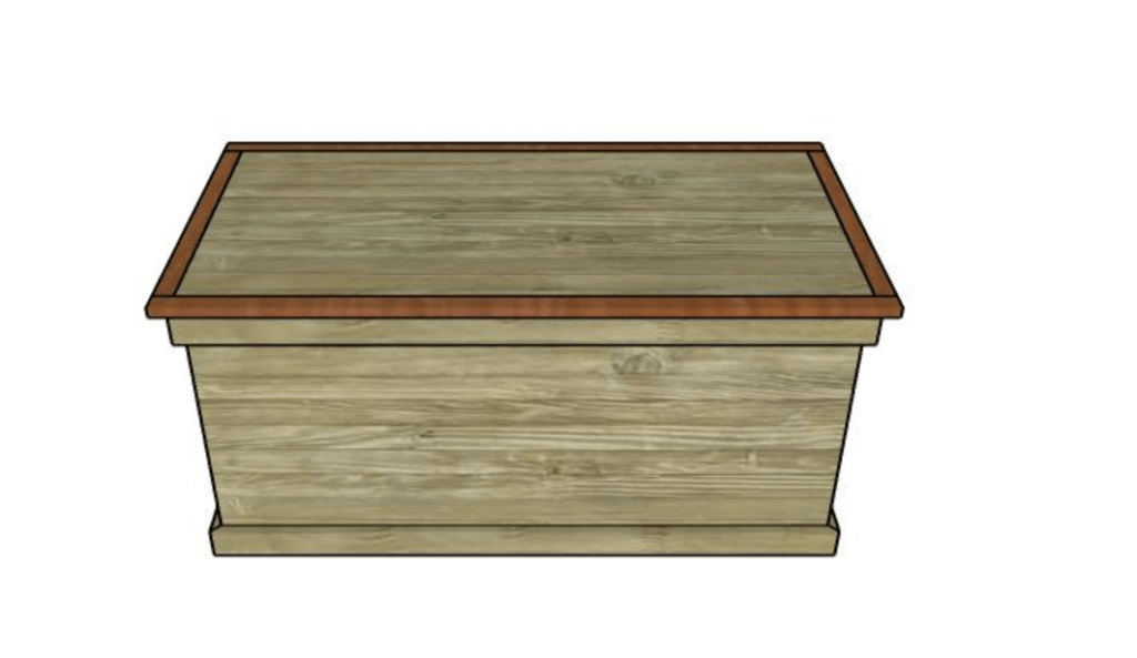 DIY Hope Chest With Two Trays