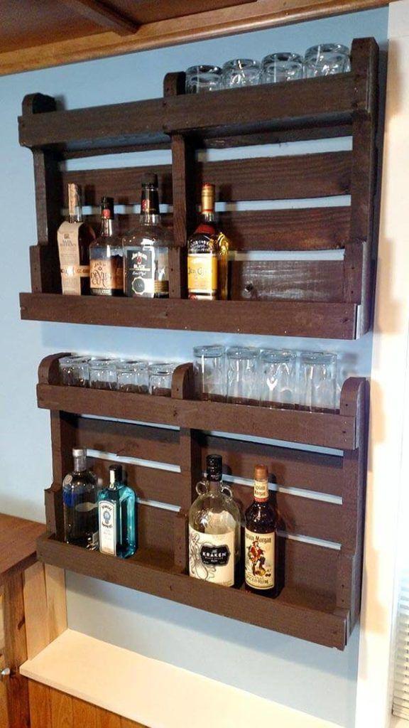 DIY Liquor Cabinet From Pallet Wood