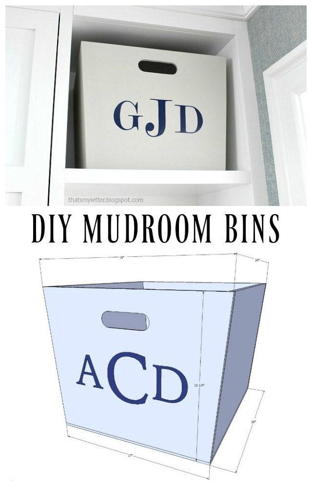 DIY Mudroom Bins