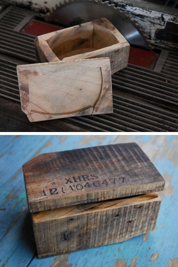 DIY Reclaimed Wood Storage Box