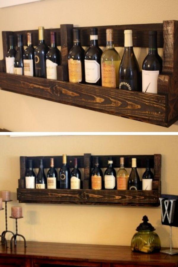 DIY Vintage Pallet Wine Rack