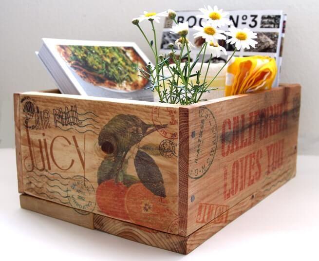 DIY Vintage Pallet Wood Crate