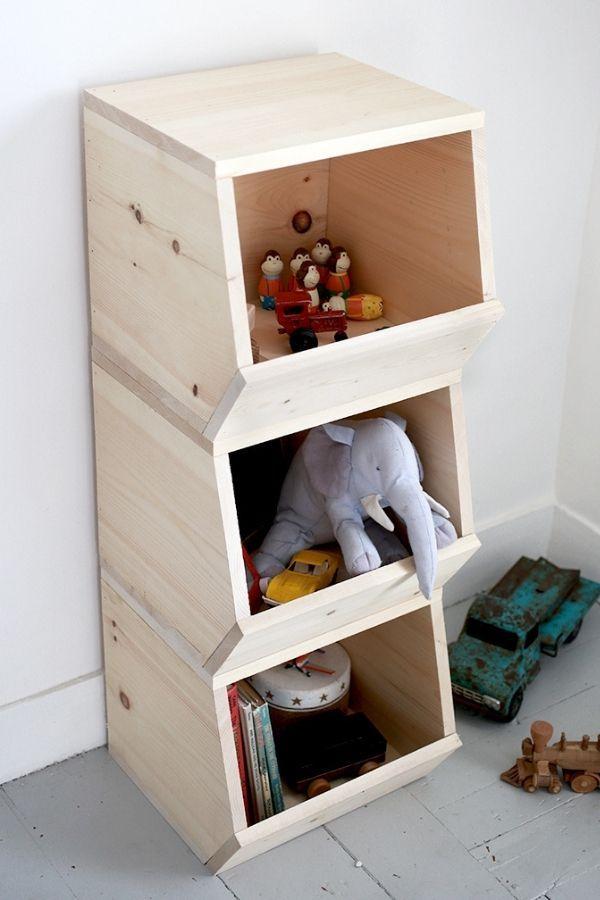 DIY Wooden Toy Bin