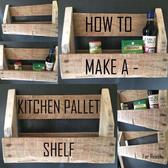 Kitchen Pallet Shelf
