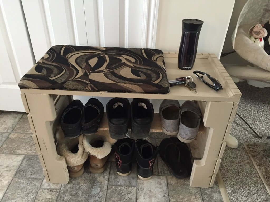 Pallet Bench With Shoe Shelf