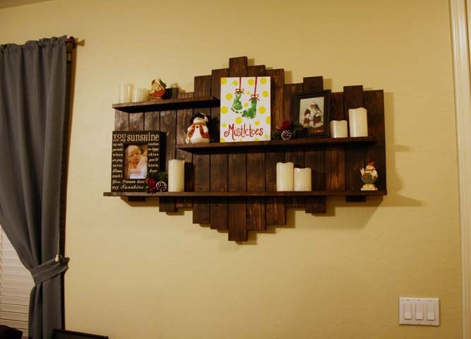 Pallet Wood Shelf And Staining
