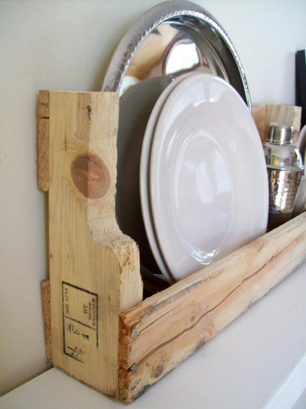 Reclaimed Pallet Wood Wall Shelves