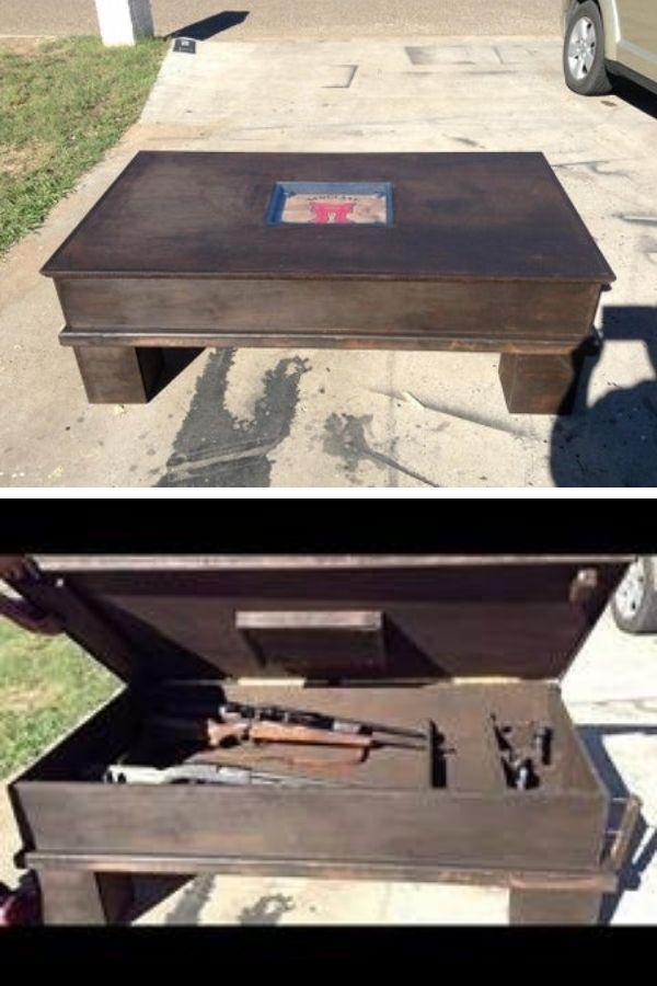 Secret Coffee Table Gun Storing