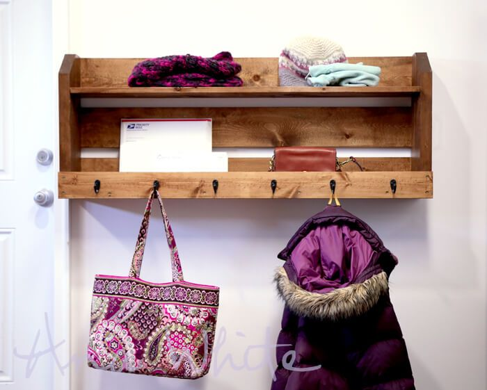 Small Pallet Coat Rack With Shelves