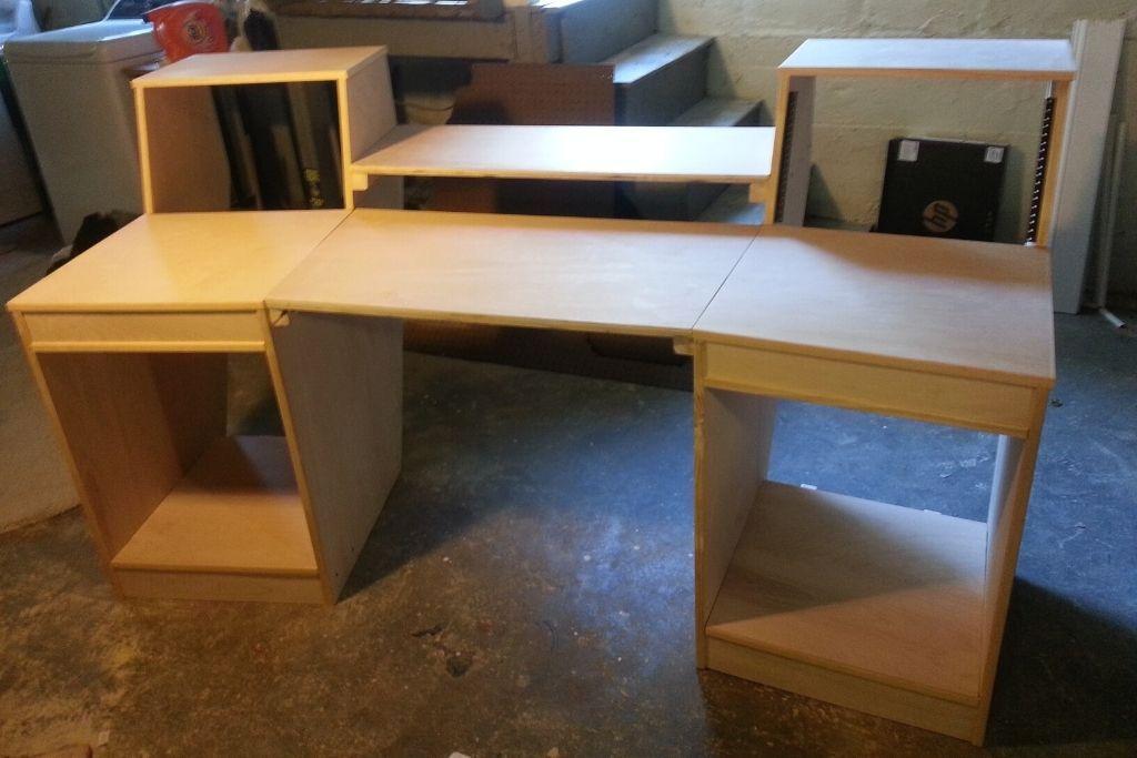 Studio Desk With Sizable Racks