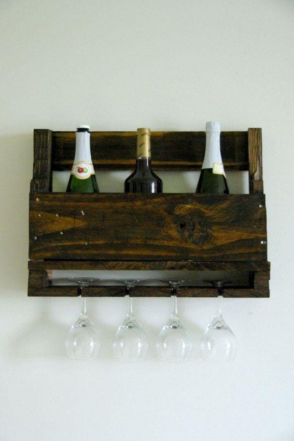 Wall-Mounted Pallet Wine Rack