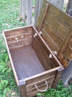 Wood Storage Chest - The Project Lady