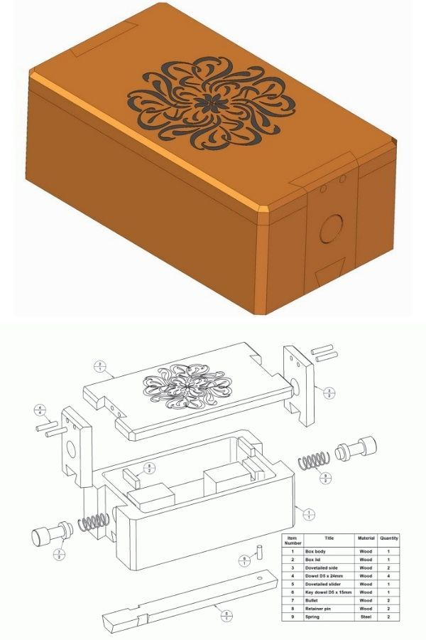 Wooden Puzzle Box Plan By Craftmanspace
