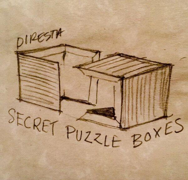 Wooden Puzzle Storage Box