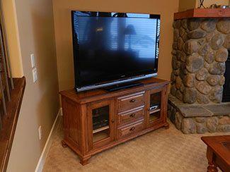 Cherry Wood TV Stand