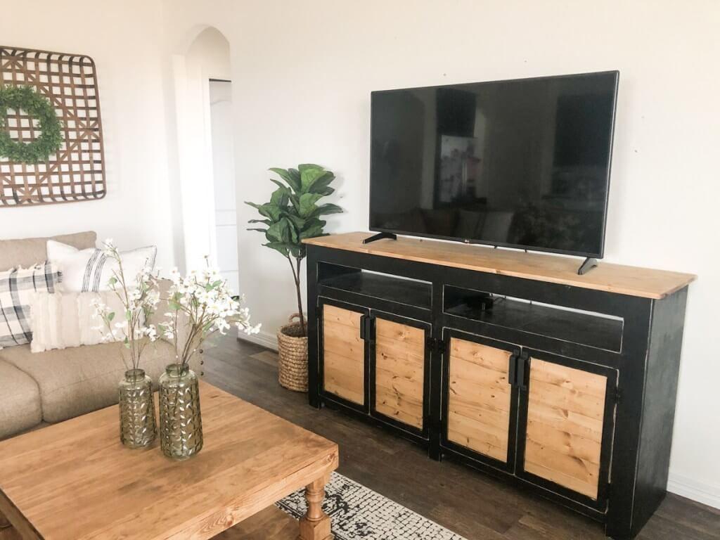 DIY 4-Door TV Stand