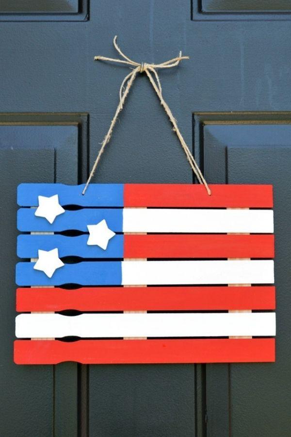 DIY American Flag Paint Stick