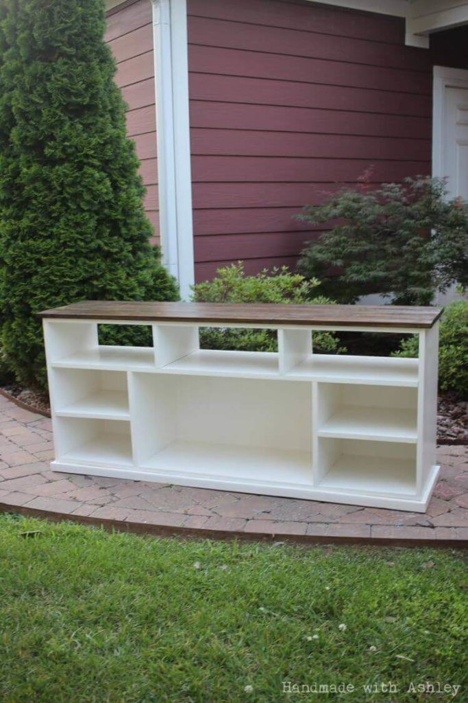 DIY Apothecary TV Stand