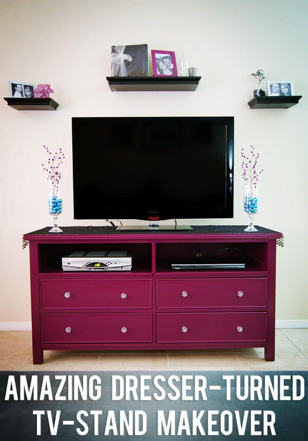 DIY Makeover Dresser Into TV Stand