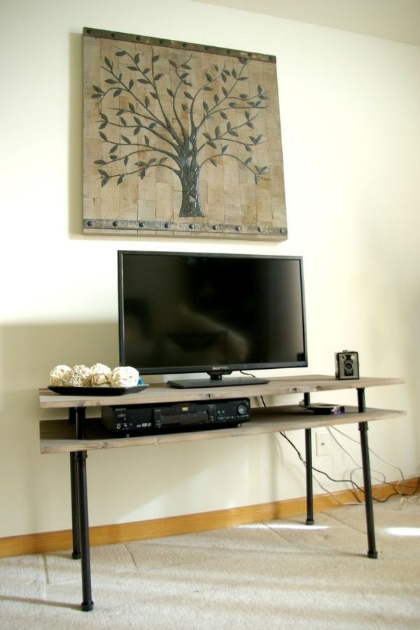 DIY Pipe TV Stand - Rustic And Modern