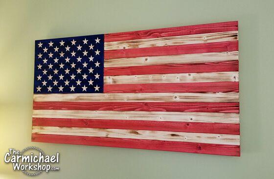 DIY Rustic Wooden American Flag