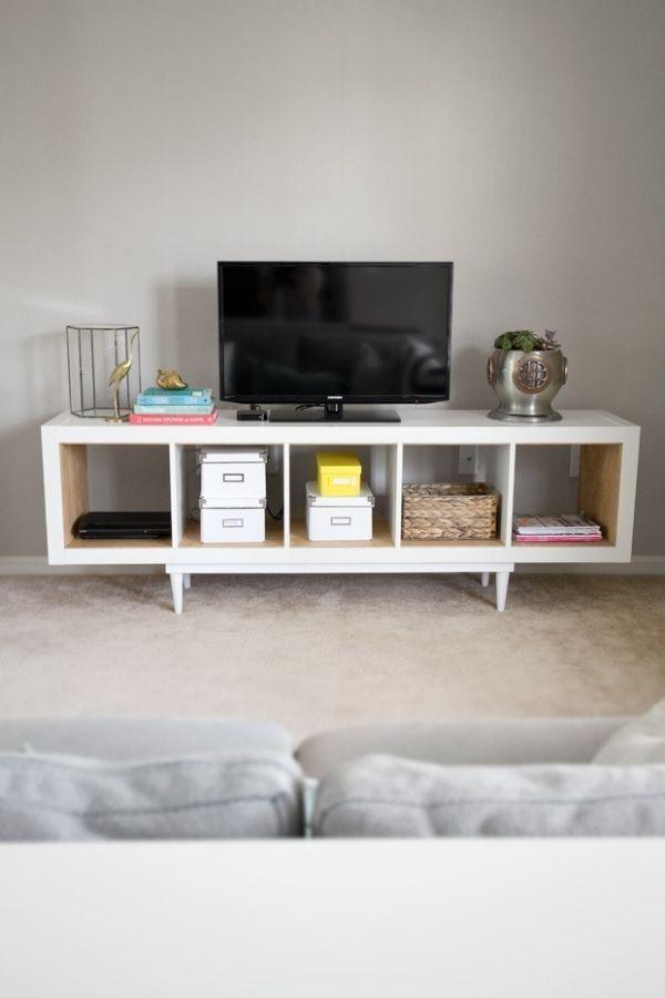 DIY Stand With Shelving Unit