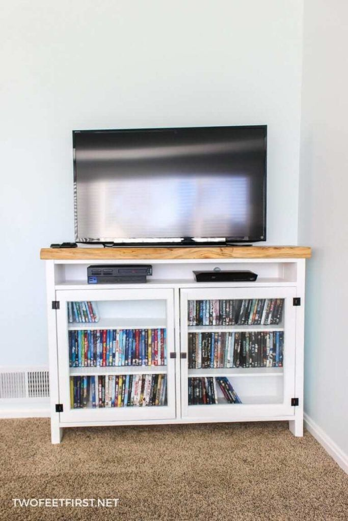 DIY TV Console From Two Feet First
