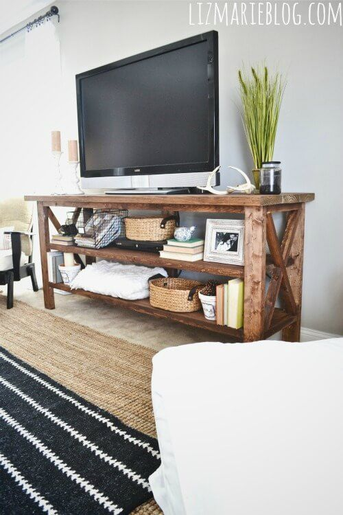 DIY TV Display From The White Cottage Farm
