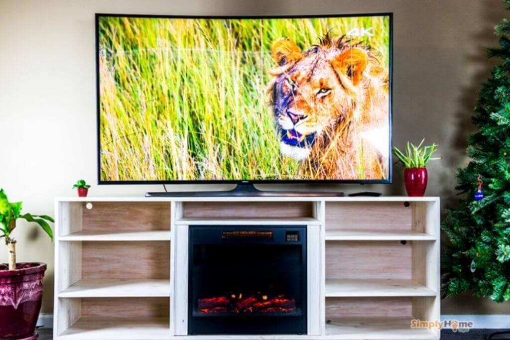 Fireplace DIY TV Stand