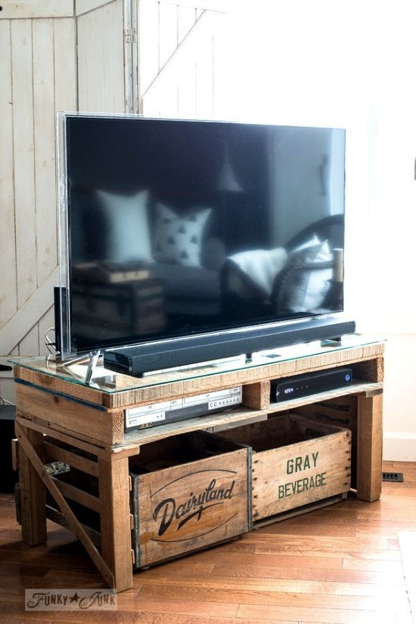 Funky Junky Interiors' Pallet TV Stand